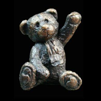 Bertie Teddy Bear Solid Bronze Sculpture by Mike Simpson