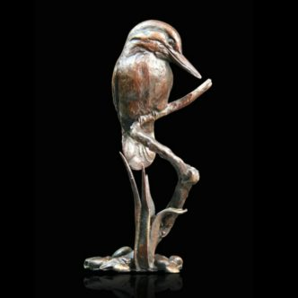 Kingfisher Solid Bronze Sculpture by Mike Simpson