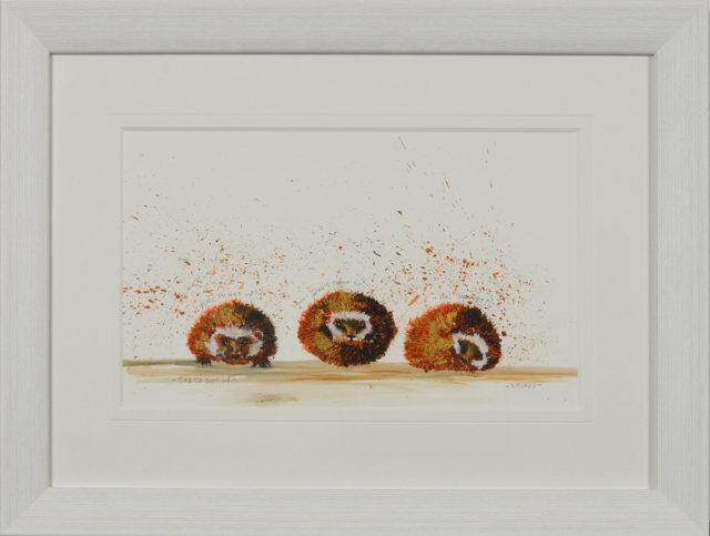 Time To Get Up by Smokey Original. Cute hedgehog art.