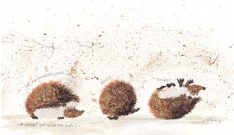 A Night Out With The Girls by Smokey. Cute hedgehog art.