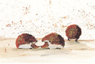 A Prickly Friend by Smokey. Cute hedgehog art.
