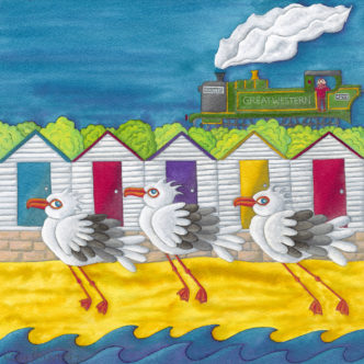 Nicky Steveson I Told You We Should Have Caught The Train open edition print exclusive to haddon galleries. Seagull art
