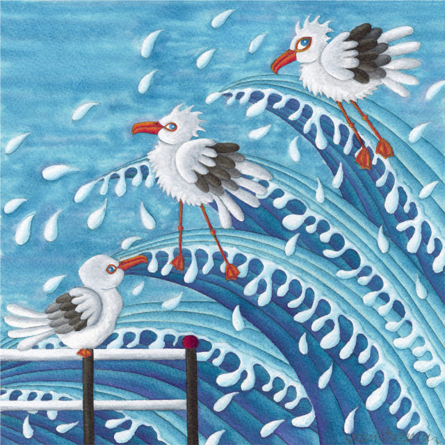 Nicky Steveson Some Were Quiet Daring open edition print exclusive to haddon galleries. Seagull art
