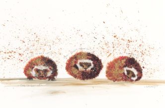 Time To Get Up by Smokey. Cute hedgehog art.
