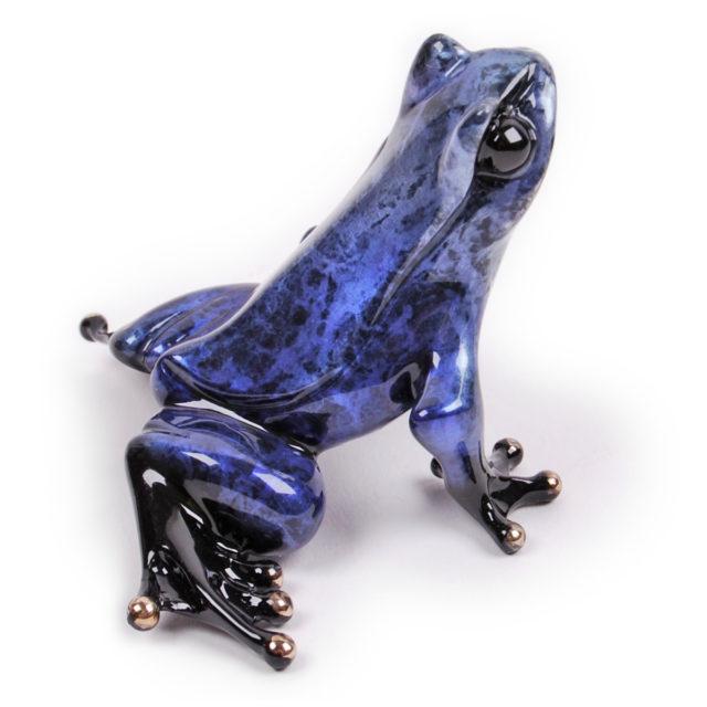 Cosmos (Solid Bronze Frog Sculpture) by Tim Cotterill Frogman Torquay Devon
