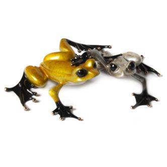 Love (Solid Bronze Frog Sculpture) by Tim Cotterill Frogman Torquay Devon