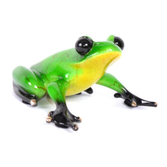 Ollie (Solid Bronze Frog Sculpture) by Tim Cotterill Frogman Torquay Devon