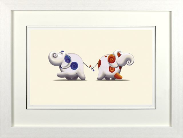 He Loves Me, He Loves Me Knot signed limited edition print by Rob Palmer at Haddon Galleries Torquay Devon.