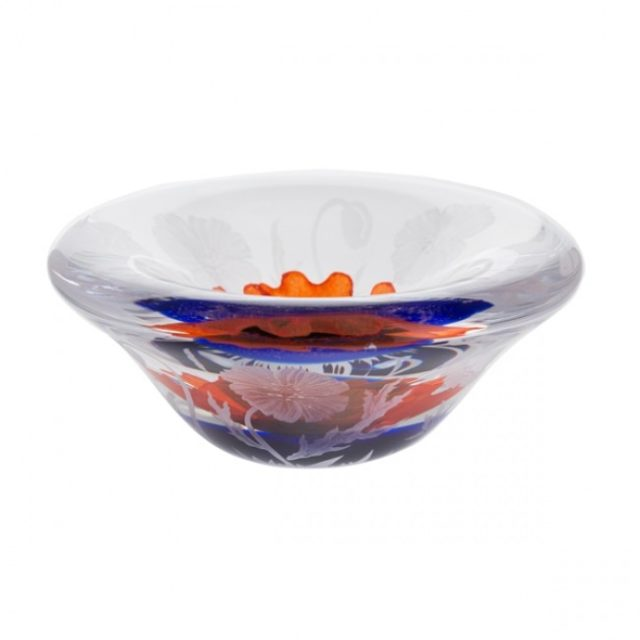 Remembrance The Poppy Fields Dish by Caithness Glass