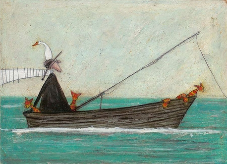 Fish Hunt By Sam Toft Limited Edition Print