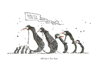 With Hope In Your Heart by Mike Jackson Fine Art Penguin Print