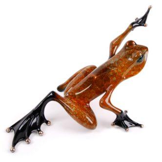 Ace II (Solid Bronze Frog Sculpture) by Tim Cotterill Frogman Haddon Galleries Torquay