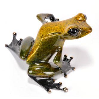 Gem (Solid Bronze Frog Sculpture) by Tim Cotterill Frogman Haddon Galleries Torquay