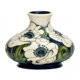 Snow Song Vase 32/5 by Moorcroft Pottery