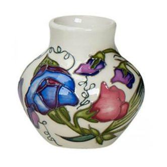 Sweetness Vase 35/3 by Moorcroft Pottery Sweet Peas