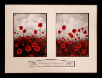 100 Years WW1 Commemorative Poppy Diptych