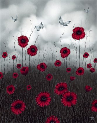 Field of Dreams Poppy Art print by Tamsin Evans Torquay Devon
