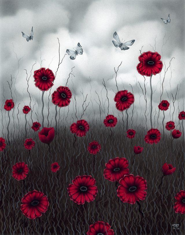Field of Dreams Poppy Art print by Tamsin Evans Torquay Devon
