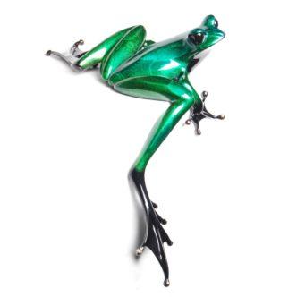 Clover (Solid Bronze Frog Sculpture) by Tim Cotterill Frogman Torquay Devon