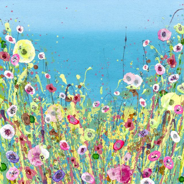 I Fell In Love At The Seaside Signed limited Edition Floral Art by Julie Clifford