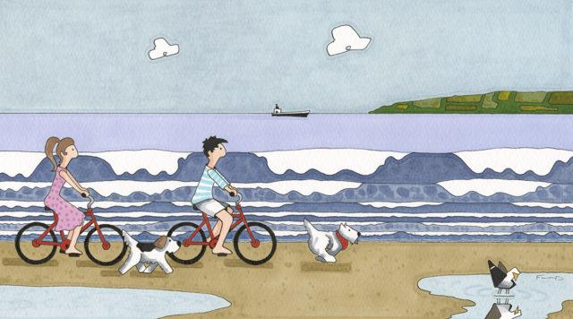 The Bike Ride (Original) by Garry Floyd