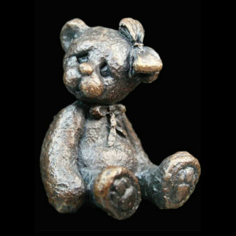 3009 Florence Teddy Bear Solid bronze