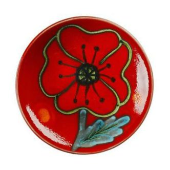 Poppy Field Bottle Plaque 12cm by Poole Pottery