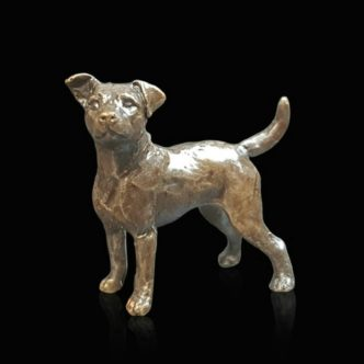 Jack Russell Solid Bronze Sculpture by Butler & Peach