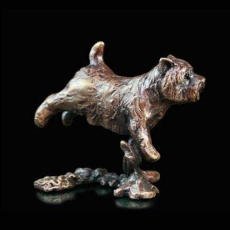 Westie Solid Bronze Sculpture by Butler & Peach