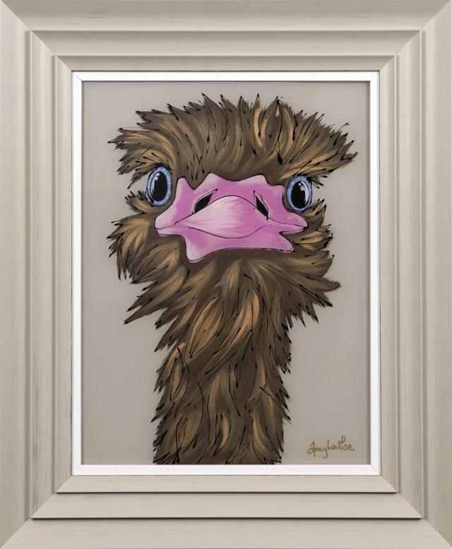 Oliver the Ostrich Original by Amy Louise