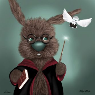A Kind Of Magic by Lisa Holmes Bunny art cute