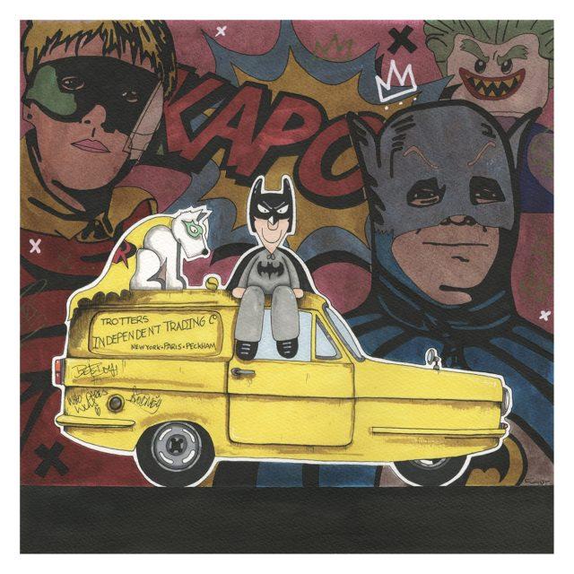 Batman & Rodney (Original) by Garry Floyd