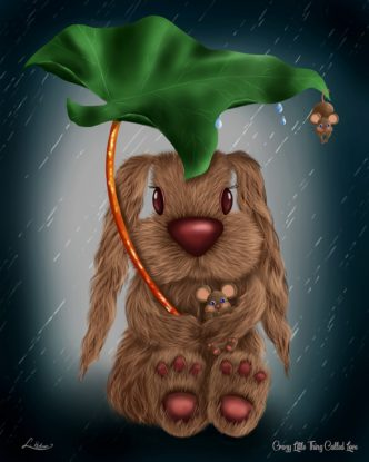 Crazy Little Thing Called Love by Lisa Holmes Bunny art cute