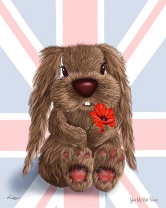 You're My Best Friend by Lisa Holmes Bunny art cute