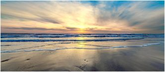 Widemouth Bay Cornwall (Sunset) Framed Print by Paul Haddon