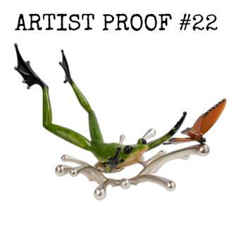 Splashdown Artist Proof(Solid Bronze Frog Sculpture) by Tim Cotterill Frogman Torquay Devon