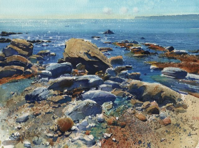 Meadfoot Morning by Richard Thorn Devon Art