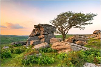 Emsworthy Tor Dartmoor Framed by Paul Haddon Photography