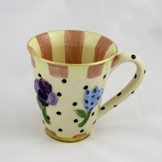 Pressed Flower Large Mug by Mary Rose Young
