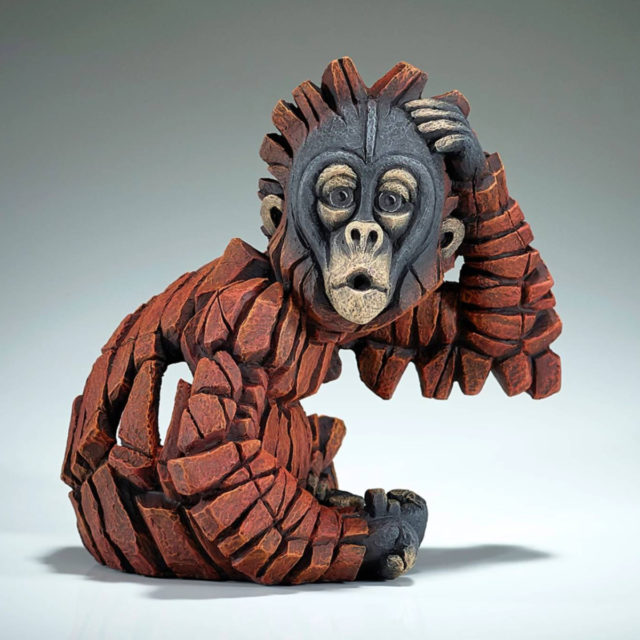 Baby OH Orangutan by Matt Buckley Edge Sculpture