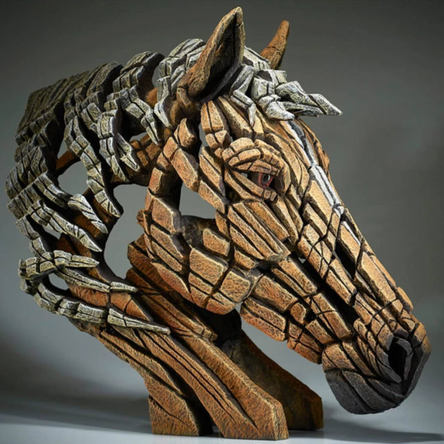 Edge Horse Bust Palomino by Matt Buckley Edge Sculpture