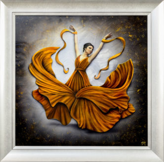 Amber Aura (Original on Metal) by Tamsin Evans ArtAmber Aura (Original on Metal) by Tamsin Evans Art