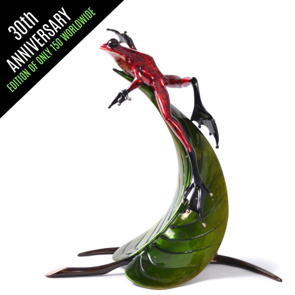 Frogman Bronze Zenith 30th Anniversary Sculpture