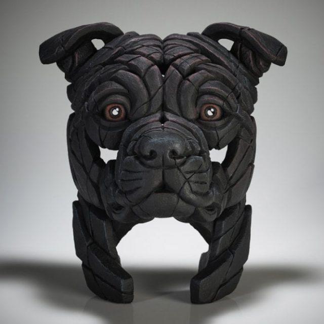 Edge Sculpture Staffordshire Bull Terrier (Black)