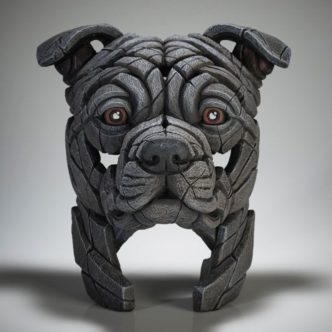 Edge Sculpture Staffordshire Bull Terrier (Blue)