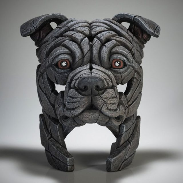 Edge Sculpture Staffordshire Bull Terrier (Blue)