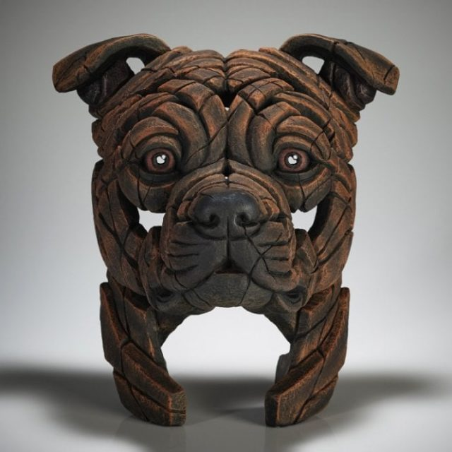 Edge Sculpture Staffordshire Bull Terrier (Brindle)
