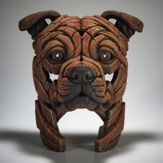 Edge Sculpture Staffordshire Bull Terrier (Red)