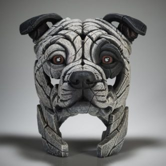 Edge Sculpture Staffordshire Bull Terrier (White Patch)