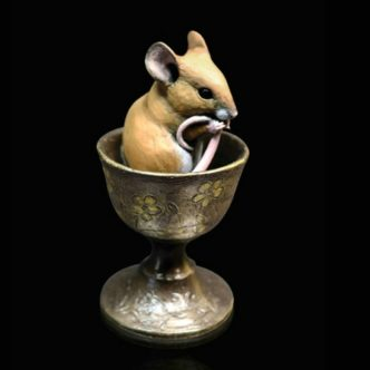247BR Mouse in Egg Cup Richard Cooper